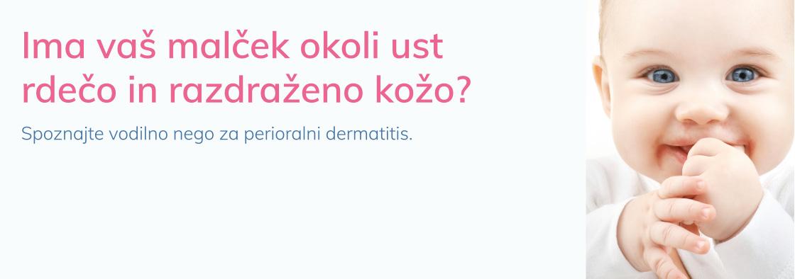 Ima vaš malček okoli ust rdečo in razdraženo kožo?